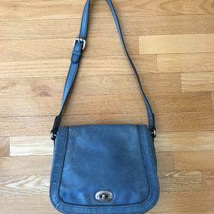 Vintage Fossil Blue Leather Purse